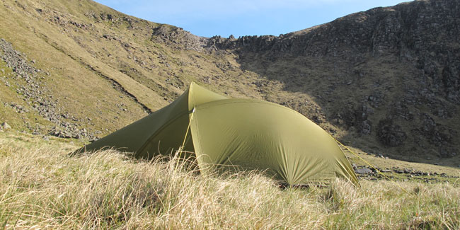 A green tent is very discrete and wont stand out attracting attention. & Wild Camping Expeditions and Workshops | Mountain Leaders
